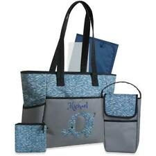 76064d5768 ... Personalized 5 in 1 Diaper Bag set -Blue Elephant - Free Shipping -  Custom Gift