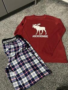 Abercrombie & Fitch Red Check Boys Kids  Pyjamas Age 15 / 16