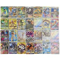 Pokemon 100 Card Lot Official TCG Cards Ultra Rare Included - EX GX Mega V Holos