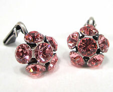 SoHo Ohrringe Ohrclips Blume mit SWAROVSKI ELEMENTS ss24 light rose clips rosa