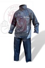 Tuta impermeabile S-LINE completo moto antipioggia pantalone + giacca nero ->XXL