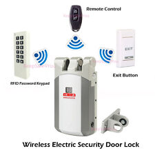 Wireless Electric Door Access Control System use Remote Control Open Lock Kit