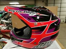 "Troy Lee Designs AIR ""Starbreak Purple"" One Off Special Medium MX Helmet TLD"