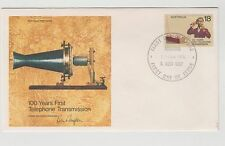 100 YEARS FIRST TELEPHONE TRANSMISSION  FIRST DAY COVER 10/03/1976 MINT