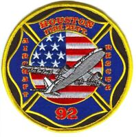 Houston Fire Department Station 92 Aircraft Rescue ARFF Patch Texas TX