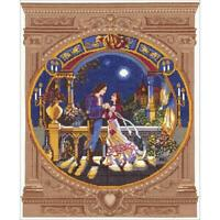 "Janlynn Platinum Counted Cross Stitch Kit Romeo And Juliet 13"" X 16"" NEW 14 CT"