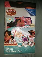 Disney's Elana Of Avalor 4 Piece Full Sheet Set