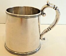 Fine Heavy Gale & Mosley 1828-1833 Coin Silver Mug W/ Thread & Twist Molded Rims