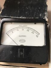 vintage bakelite Pace Electrical Instruments Amperes meter direct current Wbox