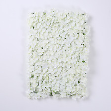 2x Artificial White Hydrangea Flower Wall Panel Wedding Venue Decoration 40x60