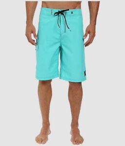 $134 Hurley Men's Blue Swim Suit Surf Beach Swimwear Trunks Board Shorts Size 28