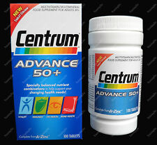 100 Centrum ADVANCE 50+ A - Zinc MultiVitamins Minerals  *Foil sealed*