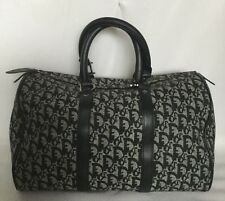 Large CHRISTIAN DIOR Paris Leather/Fabric Baguette/Tote Bag / Handbag