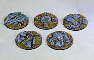 65mm Shattered Rune resin scenic bases, Qty 1-5 unpainted, Wargames, sci-fi