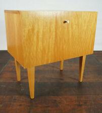 60er Vintage Mini Sideboard Nachtkommode Nussbaum Nachttisch Mid-Century 2