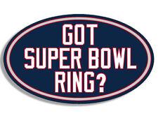 """5"""" got superbowl ring? super bowl car sticker decal usa made"""