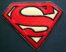 "SUPERMAN Red & Yellow PATCH Die Cut Figure  2 1/2"" by 3 1/4"" Iron or Sew On"