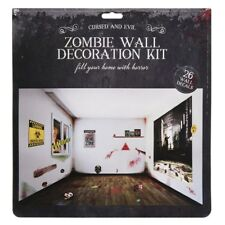 Zombie Wall Decorating Kit 26pc Halloween Decoration Scene Setter Decals Sticker