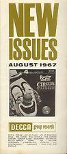 DECCA RECORD CATALOGUE SUPPLEMENT 1967 08 AUGUST barnum bailey circus spectacula