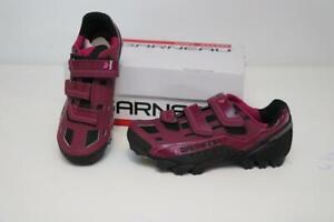 New Women's Louis Garneau Sapphire Mountain Bike Shoes 36 6 Purple MTB Cycling