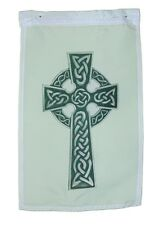 CELTIC KNOT CROSS IRELAND SCOTLAND  GARDEN FLAG 12 X 18 INCHES SLEEVED