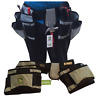 Resistente Cinturón Portaherramientas 2 Extra Grande Bolsa 18 Bolsillo Mazo Nudo