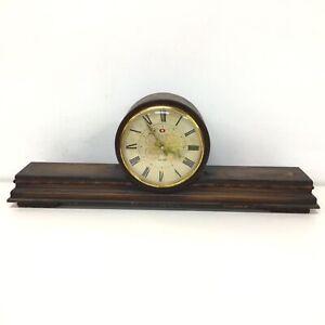Vintage Frontier 14 Day Clock Wooden Mantel Clock #710