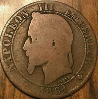 1861 BB FRANCE NAPOLEON III 5 CENTIMES EMPIRE FRANÇAIS