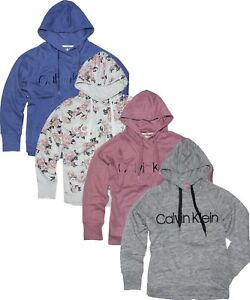 *NEW- CALVIN KLEIN Womens Logo Fleece Pullover Hoodie Sweatshirt - Size: S - XXL