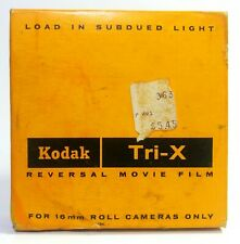 NOS 16MM Film KODAK Tri-X TXR449 Reversal Film 100 ft Black White Vintage 1960's