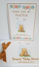 """WINNIE THE POOH A5  """"PLEASE SIGN OUR GUEST BOOK""""  CHRISTENING / NAMING DAY SIGN"""