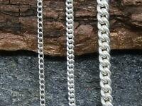 Cadena Collar Cadena Plata Genuina 925 Cadena de Plata Unisex