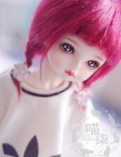 "3""-4"" 9-10cm BJD fabric fur wig Wine red for AE PukiFee lati 1/12 Doll Antiski"
