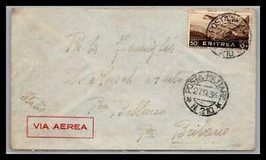 GP GOLDPATH: ERITREA COVER 1936 AIR MAIL _CV695_P05
