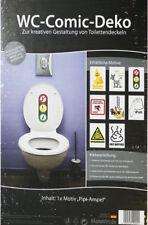 WC-Comic-Deko Pipi-Ampel Aufkleber