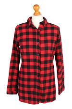 Vintage Printed Corduroy Flannel Shirt Long Sleeve Casual WOMEN L Multi - SH3501
