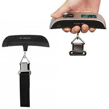 Portable Digital LCD Luggage Scale 110lb / 50kg Hanging Weight Travel Weighing