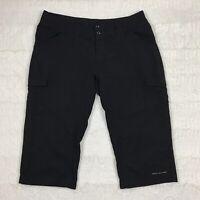 Columbia Womens Hiking Pants Size 6 Capri Length Black Outdoor Omni-Shade