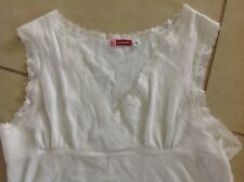 Women's white and lace Outlooks tank top size L