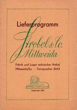 Lieferprogramm Strobel & Co. Mittweida, Fabrik und Lager technischer Artikel/RAR