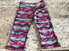 Women's  Be Inspired Work Out Pants. Pink Purple Teal Size Small. B50
