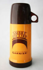 RARE VINTAGE 90'S AMBRE SOLAIRE THERMOS DRINKING FLASK + CUP GARNIER NEW NOS !