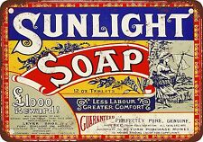 """7"""" x 10"""" Metal Sign - 1921 Sunlight Soap - Vintage Look Reproduction"""