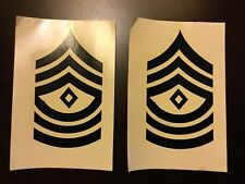 Vietnam US Army Rank Insignia Sticker Decals For Helmet Liners 1st Sergeant