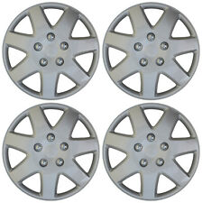 "4 Piece SET Hub Cap ABS Silver 16"" Inch for OEM Steel Wheel Cover Caps Covers"