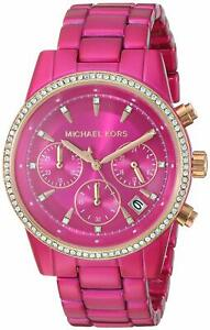 Michael Kors Women's MK6718 Ritz Pink Stainless Steel Watch