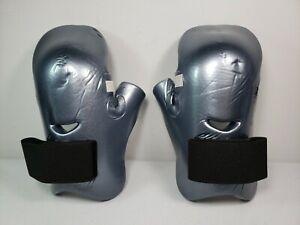 ProForce Lightning Karate Martial Arts Sparring Gloves ~ Adult Large ~ Silver
