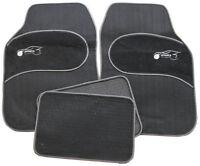 BMW 3,5,6,7,8 Series E90 E60 E39 Universal GREY Trim Black Carpet Cloth Car Mats