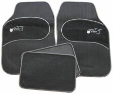 Fiat 500 500L 500C Universal GREY Trim Black Carpet Cloth Car Mats Set of 4