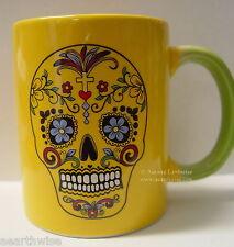 DAY OF THE DEAD CERAMIC COFFEE MUG TEA MUG Wicca Witch Pagan Goth Occult Yoga
